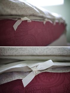 Make your own duvet cover...pinned for my wife...definitely not doing this for myself...