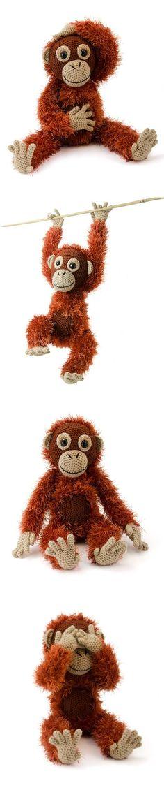 Orwell the orangutan amigurumi pattern