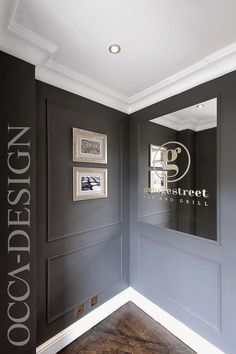 Hotel Interior Design, Bar Interior Design, Zinc Bar Counter, Bar signage, Grey Interior, Traditional Interior, Period Property, Georgian hotel
