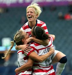 Megan Rapinoe and the US women's soccer team as they defeat Colombia 3-0