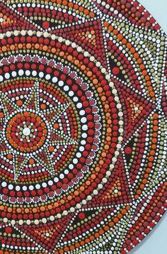 Mandala em pontilhismo Pontos em Cores by Thincia www.facebook.com/Pontos.em.Cores/