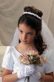 communion hairstyles with princess tiara - Google Search