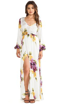 Show Me Your Mumu Jocelyn Maxi Dress in Floating Floral   REVOLVE