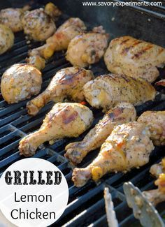 Grilled Lemon Chicken Recipe- A simple marinade for foolproof chicken on the grill every time! Make leftovers with almond rice.