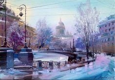 Мойка зимой, Санкт-Петербург, автор Бэгги Боем. Артклуб Gallerix