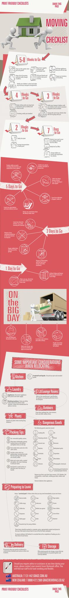Moving Checklist [infographic]