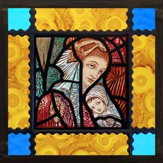 Saint Mary with Child stained glass, Mary suncatcher, religious glass, Mary, Jesus, Maria witraże, Богородица, Marie vitrail, nice gift door StainedGlassElements op Etsy