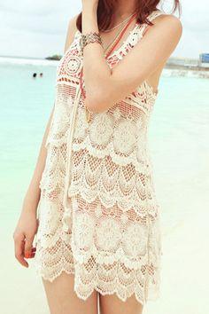 Crochet lace coverup