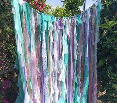 Mint and Purple Nursery Decor Mermaid Curtain Mermaid