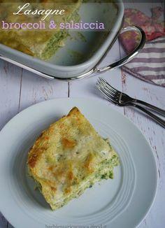lasagne broccoli e salsiccia