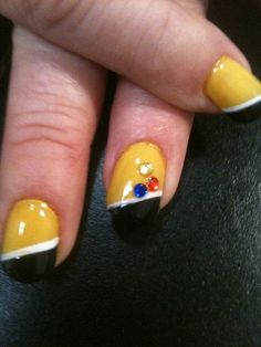 STEELER NAILS PINTREST | Steelers nails
