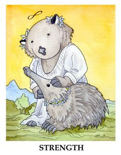 Wombat Tarot: Strength by ursulav.deviantart.com on @deviantART