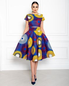 See beautiful African print summer dresses by BISI Designs 2019 look book. Meet the African print statement dresses and skirts for summer African Dress Patterns, African Print Dresses, African Print Fashion, African Prints, Trendy Ankara Styles, Ankara Gown Styles, Ankara Gowns, African Attire, African Wear