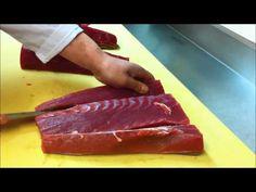 how to cut tuna for sushi sashimi