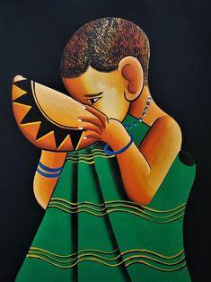 Art Patterns, Pattern Art, Painting For Kids, Art For Kids, African Art Paintings, Xhosa, Africans, African Culture, Black Art