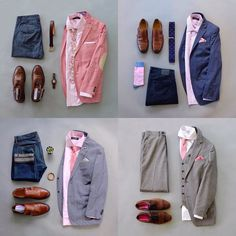 It's time for my bi-weekly recap but I've decided to mix it up.  Instead of showing the most popular looks the last couple of weeks I'm going to show a theme.  Here are 4 ideas on how to style with pink.  Which route would you go with?