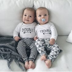 """""""Double Trouble"""" Adorable identical twin boys"""