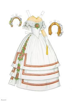 Paper Dolls~Godey's Early Victorian Fashion