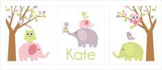 Childrens Art Prints Nursery Wall Art Baby room by FieldandFlower