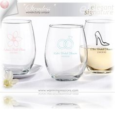 Wedding Favors Bridal Favors Party Favors Personalized Stemless Wine Glass Favors Gifts - 71% OFF - 13045BL - Cheap Wedding Favors - Cheap Bridal Shower Favors - Cheap Party Favors - http://www.warmimpressions.com/WEDDING_FAVORS/Personalized-Stemless-Wine-Glass-Favors-kate-aspen-30009NA.html