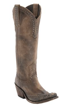 Liberty Black® Women's Cognac Distressed Studded Snip Toe Western Fashion Boots