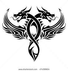 Image result for tribal dragon tattoos