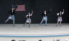 2nd from right - kilt with black jacket #ferguson #blue #tartan