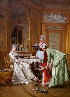 Emile-Pierre Metzmacher - Her First Steps, 1878