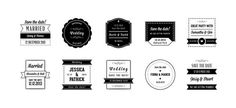 http://vandelaydesign.com/shop/psd-files/wedding-badges-psd-pack/
