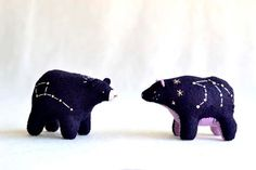 ursa cub little dipper spirit bear felt bear by MountRoyalMint