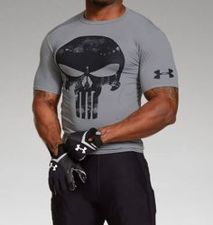 Men's Under Armour® Alter Ego Punisher Team Compression Shirt Altered T Shirts, Under Armour Outfits, Tactical Clothing, Workout Wear, Workout Style, Punisher, Sport Outfits, Crossfit, Cool Shirts