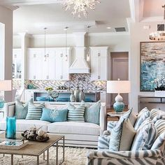 Merveilleux The Quintessential Beach House By @robbstucky Dream Beach Houses, Coastal  Decor Living Room,