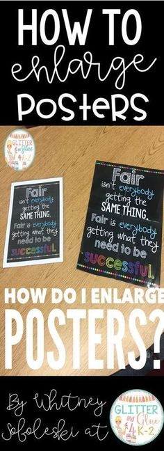 tutorial on how to enlarge posters for your classroom! Keywords: posters, classroom decor, back to school, how to enlarge posters, classroom posters. Classroom Hacks, Classroom Bulletin Boards, Future Classroom, Classroom Setup, Classroom Design, Speech Classroom Decor, Computer Classroom Decor, Classroom Decoration Ideas, Classroom Incentives