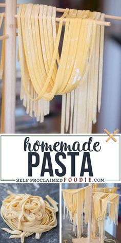 Homemade Pasta is not only fun and easy recipe to make in your own kitchen, but nothing compares to the taste and texture of fresh homemade pasta. Easy Recipes How to Make Homemade Pasta - Recipe & Tips Homemade Spaghetti Noodles, Homemade Pasta Dough, Homemade Noodle Recipe, Homeade Noodles, Pasta Noodles, Noodle Dough Recipe, Pastas Recipes, Easy Pasta Recipes, Skillet Recipes