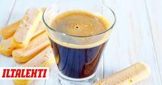 Kahvi on olennainen osa tiramisua. Pretzel Bites, Tiramisu, Cake Recipes, Pudding, Bread, Baking, Drinks, Tableware, Drinking