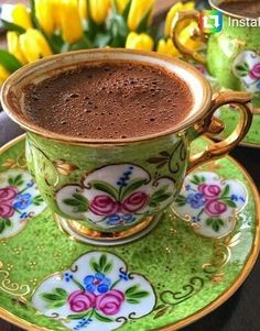 Turkish Coffee, of course. I Love Coffee, Coffee Break, My Coffee, Morning Coffee, Café Chocolate, Chocolates, Pause Café, Turkish Coffee Cups, Coffee Photography