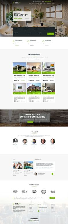 Dream Land Real Estate home page