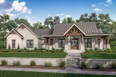 French Country House Plans, Modern Farmhouse Plans, Farmhouse Style Homes, Southern House Plans, Craftsman Style House Plans, Best House Plans, House Floor Plans, 4 Bedroom House Plans, Dream Homes