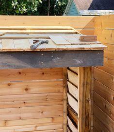 Bluestone Backyard: Build Yourself a Little Storage Shed! | Daniel Kanter Backyard Storage Sheds, Building A Storage Shed, Diy Storage Shed, Backyard Sheds, Backyard Patio, Backyard Studio, Backyard Kitchen, Bike Storage, Backyard Landscaping