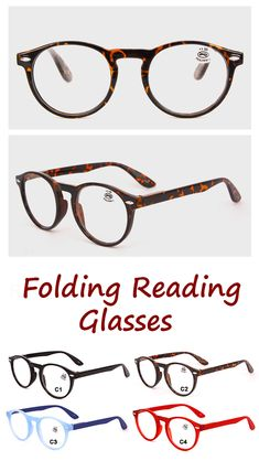 c209d0f9e8e Mens Womens Cheap Reading Glasses Colorful Best Folding Fashion Cute Round Prescription  Glasses is hot sale at NewChic