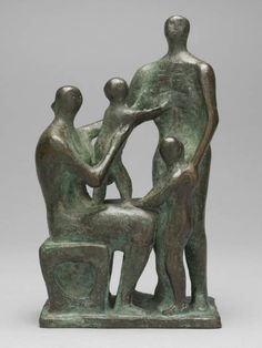 Henry Moore OM, CHMaquette for Family Group 1945 http://www.tate.org.uk/