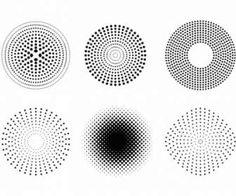 ドットとハーフトーンのパターン