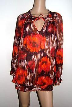 NBW Womens Lane Bryant 1X Semi Sheer Blouse Top 18/20 #PlusSize #Ebay #Clothing #Apparel