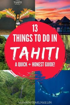Is Tahiti worth exploring, or is it more of a stopover? Here are 13 things you can do in Tahiti to help you decide if it& worth spending more time than necessary in this part of French Polynesia. Tahiti Resorts, Tahiti Vacations, Romantic Vacations, Romantic Travel, Dream Vacations, French Polynesia Honeymoon, Tahiti French Polynesia, Bora Bora, Travel