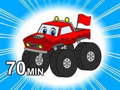 Kids who Love Monster Trucks, Fire Trucks & Police Cars will Love this 70 Minute Compilation. Busy Beavers Mixed our Most Exciting Vehicles Videos Together t. Busy Beaver, Nursery Songs, Love Monster, Police Cars, Fire Trucks, Kids Learning, Counting, Monster Trucks, How To Memorize Things