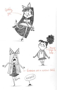 Alex T. Smith: FROM MY SKETCHBOOK: Girls...