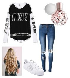 """Want this shirt tbh"" by maliyah-wbms on Polyvore featuring Victoria's Secret, WithChic and adidas"