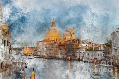 Venice Italy - Grand Canal at Dusk by Brandon Bourdages