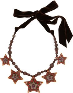 Lanvin Gold Swarovski Crystal Star Necklace