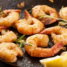 A garlic prawn recipe basted with butter and herbs.